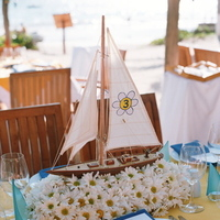 Reception, Flowers & Decor, Decor, Destinations, yellow, blue, Destination Weddings, Mexico, Centerpieces, Centerpiece, Wedding, Nautical, Navy, Mexico weddings, The tides ziahuatanejo