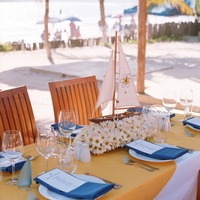 Reception, Flowers & Decor, Decor, Destinations, yellow, blue, Destination Weddings, Mexico, Wedding, Nautical, Navy, Mexico weddings, The tides ziahuatanejo