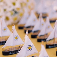 Reception, Flowers & Decor, Decor, Destinations, yellow, blue, Destination Weddings, Mexico, Place Cards, Wedding, Nautical, Navy, Mexico weddings, The tides ziahuatanejo