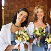 Flowers & Decor, Bridesmaids, Bridesmaids Dresses, Fashion, white, yellow, blue, Bridesmaid Bouquets, Flowers, Wedding, Ranch, Flower Wedding Dresses