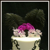 Beauty, Cakes, cake, Feathers, Ribbon Wedding Cakes, Ribbon, Diamonds, Rhinestones, Glass slipper gourmet, Black and pink