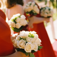 Ceremony, Flowers & Decor, Bridesmaids, Bridesmaids Dresses, Fashion, red, Ceremony Flowers, Bridesmaid Bouquets, Flowers, Wedding party, Wedding, Bouquets, Napa, Dramatic, Flower Wedding Dresses