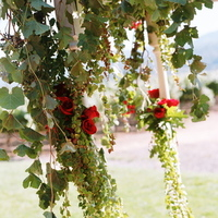 Ceremony, Flowers & Decor, Decor, Destinations, red, North America, Wedding, Napa, Dramatic, Napa valley