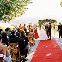 Ceremony, Flowers & Decor, Destinations, red, North America, Wedding, Napa, Dramatic, Napa valley