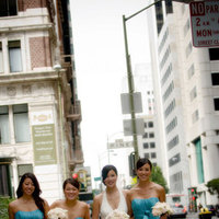 Bridesmaids, Bridesmaids Dresses, Fashion, pink, blue, City, Walking, Cream, Aqua, San francisco, Street, Michael muramoto photography