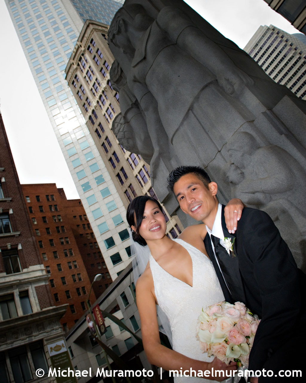 Bride, Groom, San francisco, Fisheye, Michael muramoto photography