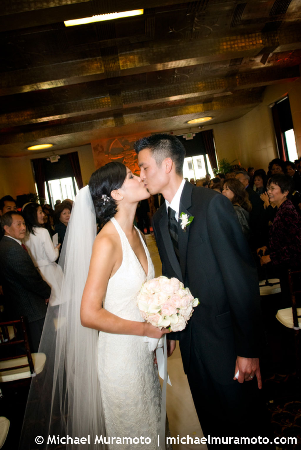 Ceremony, Flowers & Decor, Bride, Groom, Aisle, San francisco, Michael muramoto photography, City club