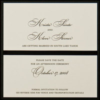 Stationery, white, black, invitation, Square, Invitations, Save the date, Ribbon, Proskalo inc