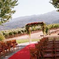 Ceremony, Flowers & Decor, Decor, Destinations, red, North America, Wedding, Napa, Dramatic, Napa valley, Red carpet
