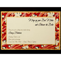 Flowers & Decor, Stationery, red, gold, invitation, Invitations, Bridal Shower, Flower, Proskalo inc