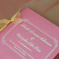 Stationery, red, Ceremony Programs, Programs, Wedding, Napa, Dramatic