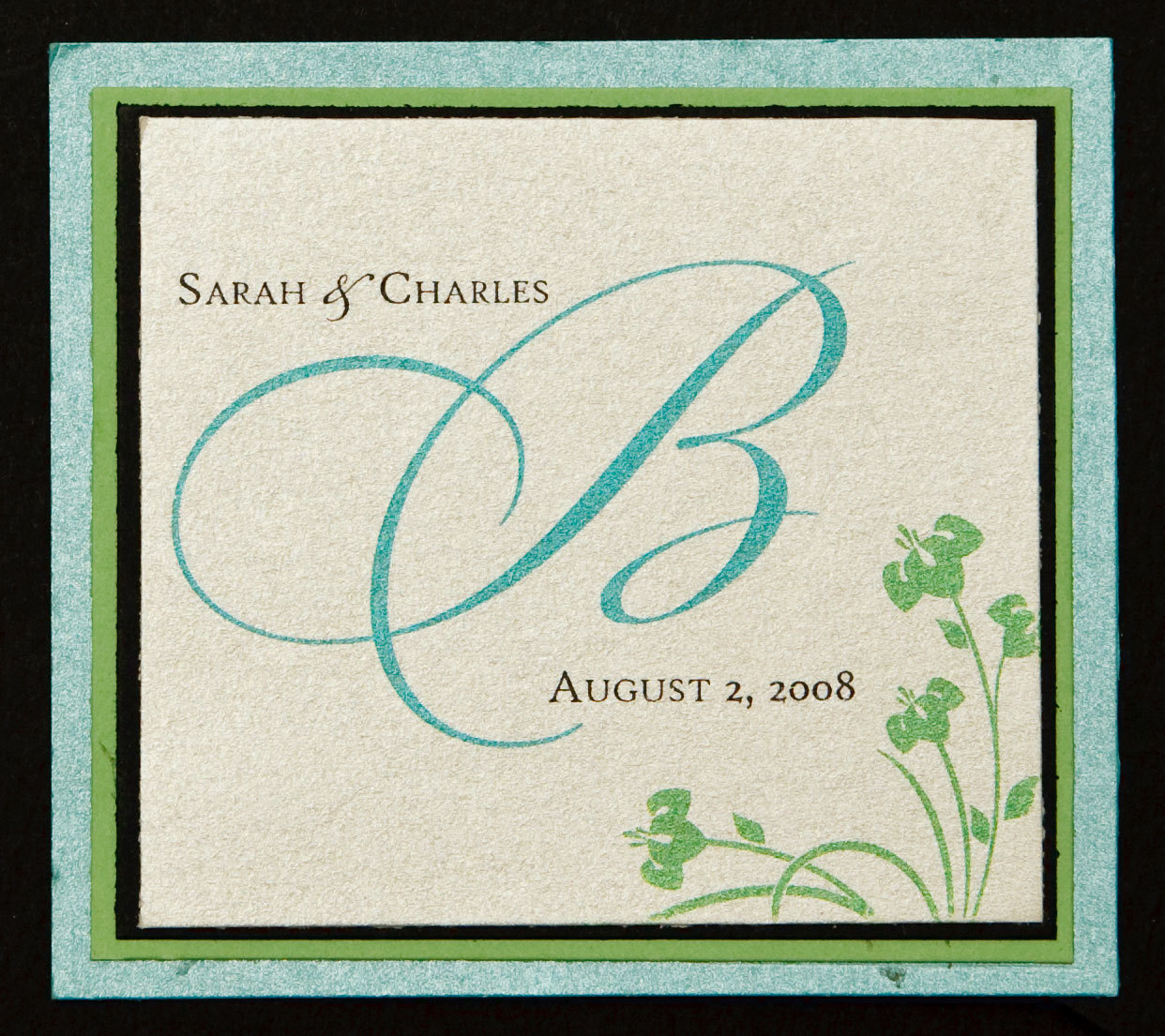Stationery, green, black, invitation, Invitations, Monogram, Teal, Proskalo inc