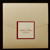 Stationery, ivory, red, invitation, Invitations, Save the date, Champagne, Pocket, Proskalo inc