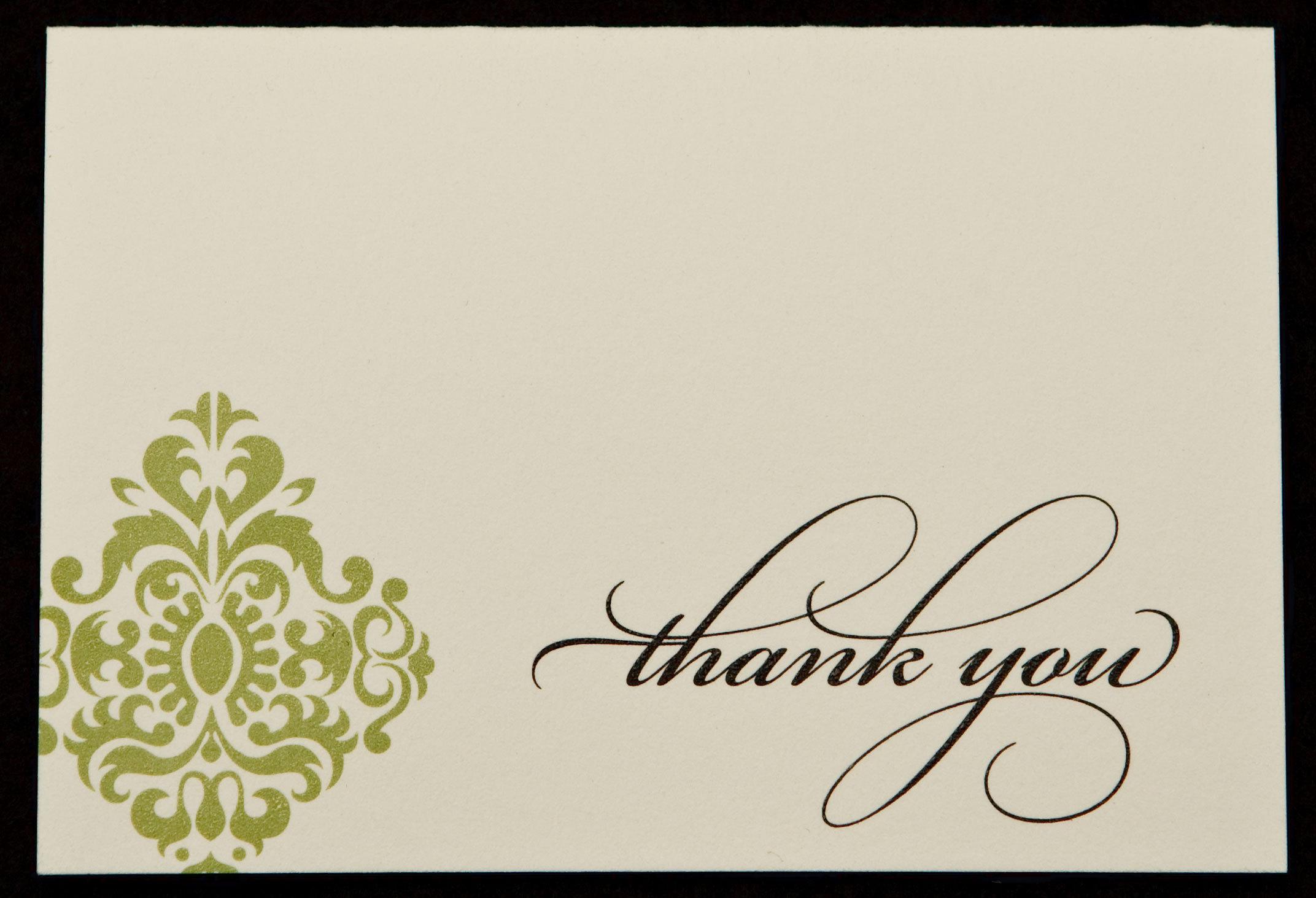 Stationery, white, ivory, green, invitation, Invitations, Thank you, Proskalo inc