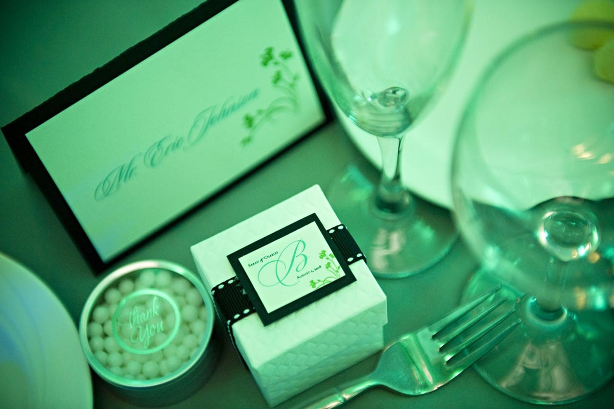 Reception, Flowers & Decor, Favors & Gifts, Stationery, green, black, favor, invitation, Invitations, Teal, Placecard, Proskalo inc