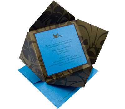 Stationery, blue, black, invitation, Invitations, Zyrik invitations