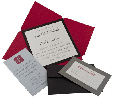 Stationery, red, black, invitation, Invitations, Zyrik invitations