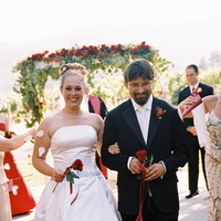 Ceremony, Flowers & Decor, Destinations, red, North America, Wedding, Flower petals, Napa, Dramatic, Napa valley