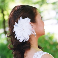 Beauty, Flowers & Decor, pink, brown, Feathers, Vineyard, Wedding, Hair, And, Feather