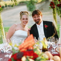 Reception, Flowers & Decor, Destinations, red, North America, Wedding, Napa, Dramatic, Napa valley