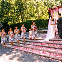 Ceremony, Flowers & Decor, Destinations, pink, brown, North America, Vineyard, Wedding, And, Napa valley