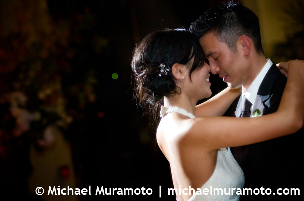 Bride, Groom, First dance, San francisco, Light, Michael muramoto photography, City club, Off-camera