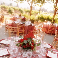 Reception, Flowers & Decor, Decor, Destinations, Registry, red, North America, Place Settings, Wedding, Linens, Napa, Dramatic, Plates, Napa valley