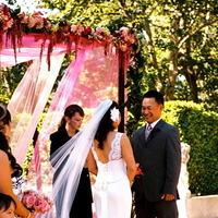 Ceremony, Flowers & Decor, Veils, Destinations, Fashion, pink, brown, North America, Vineyard, Veil, Wedding, And, Bridal attire, Napa valley
