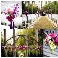 Ceremony, Flowers & Decor, pink, purple, green, Ceremony Flowers, Flowers, Mieng saetia photography