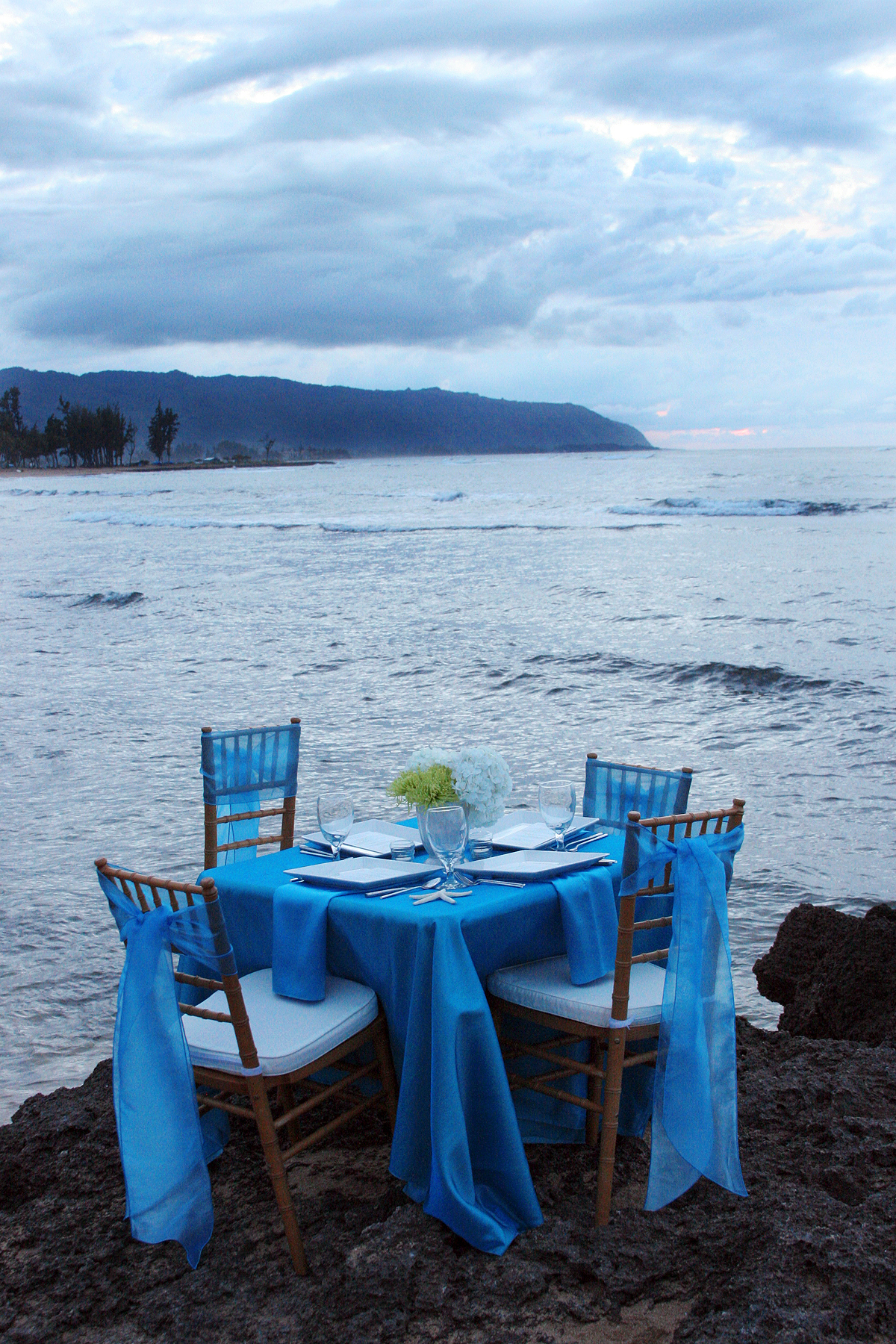 Reception, Flowers & Decor, Decor, Destinations, Hawaii, Centerpieces, Centerpiece, Tropical, Ocean, Dinner, Seasons of life wedding and event planning llc