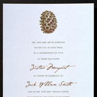 Stationery, Destinations, Invitations, Wedding, Destination, Aspen, Cone, Letterpress, Invitations by ajalon, Pine