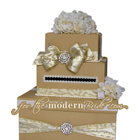 Reception, Flowers & Decor, ivory, gold, Brooches, Modern, Bride, Custom, The, Box, Envelope, Card, Money, Holder, Crystals, For the modern bride - we think outside the, Boxfor, Swarvoski