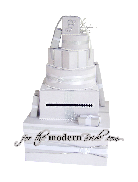 Reception, Flowers & Decor, white, silver, Modern, Bride, Custom, The, Box, Envelope, Card, Money, Holder, Rhinestones, For the modern bride - we think outside the, Boxfor