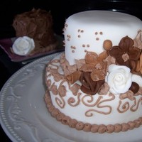 Cakes, brown, cake, Roses, Wedding, Fondant, Cake-cakes