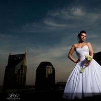Flowers & Decor, Wedding Dresses, Fashion, dress, Bride Bouquets, Bride, Flowers, Bouquet, Portrait, Wedding, Bridal, Rooftop, Grayphotography - nashville based wedding photography, Flower Wedding Dresses