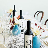 Table Numbers, Table, Numbers, Wine, Bottle, Xyron