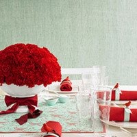white, red, Aqua, Carnations, Bowl