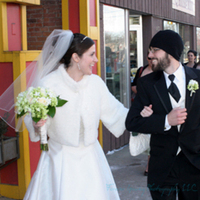 Winter, Bride, Groom, Wedding, Party, And, Forever young photography llc