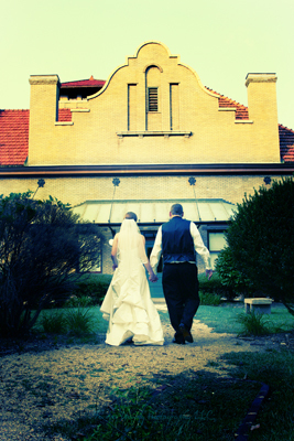 Bride, Groom, Train, And, Station, Raleigh, Forever young photography llc
