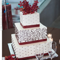 Cakes, white, red, black, cake