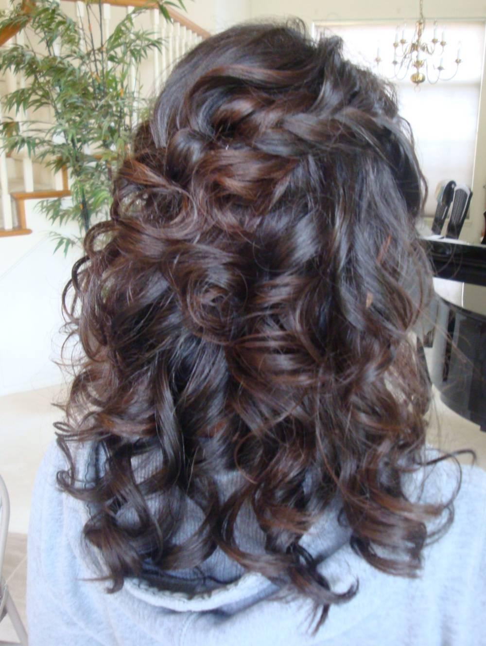 Beauty, Down, Hair, Up, Half, Braid
