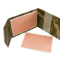 Stationery, pink, brown, invitation, Invitations, Zyrik invitations, Trifold