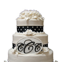 Cakes, white, black, cake, Wedding, And, Dots, Polka, Homestyle bakery