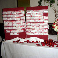 Flowers & Decor, white, red, Flowers, Escort, Table, And, In, Card, Place, Sign, In the clouds events