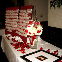 Flowers & Decor, Cakes, red, cake, Ribbon Wedding Cakes, Flower, Calla, Table, Sweetheart, Ribbon, Lily, On, In the clouds events