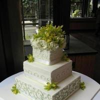 Flowers & Decor, Cakes, green, cake, Flowers, Wedding, Fresh, Swirls, Sugarplum bakery