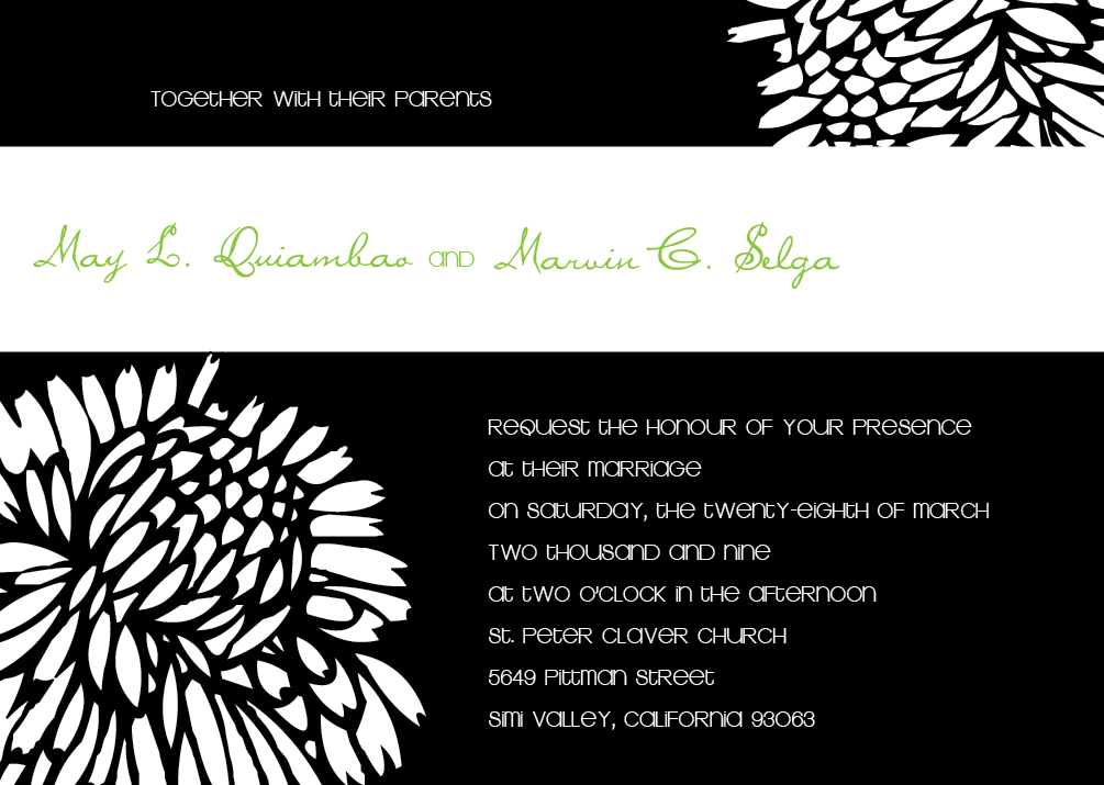 Flowers & Decor, white, green, black, Modern, Lime, Flower, Chic, Red bumble bee