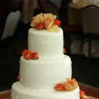 Cakes, orange, cake, Roses, Simple, Town and country gardens