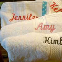 Monogram, Party, Bridesmaid, Bridal, Wrap, Spa, Moh, Towel