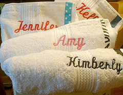 Monogram, Party, Bridesmaid, Bridal, Wrap, Spa, Moh, Towel